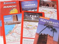 モロッコの街の地図やミシュランのロードマップ